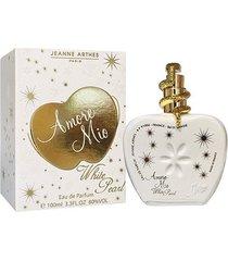 perfume amore mio white pearl feminino jeanne arthes edp 100ml