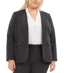 bar iii trendy plus size open-front blazer, created for macy's
