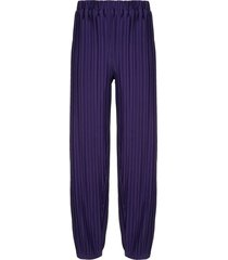 bambah pleated harem-style trousers - purple