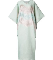 bambah antonia kaftan dress - blue
