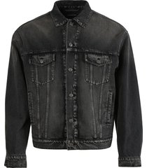 dirty vintage black denim jacket