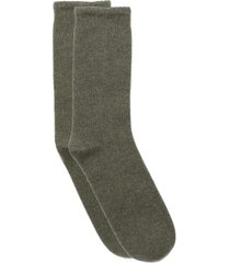 cashmere travel socks - moss