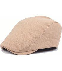 cappello da uomo con visiera piatta e piegata in cotone lavorato a mano