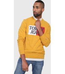 buzo amarillo-rojo-blanco tommy jeans