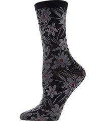 natori abstract floral crew socks, women's