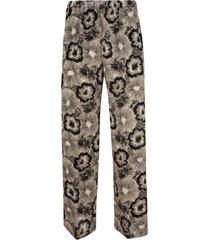 aspesi floral print straight trousers