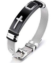 pulsera manilla hombres acero inoxidable 18.5cm 80543