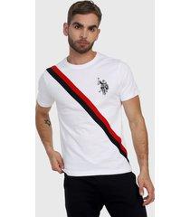 camiseta blanco-azul-rojo us polo assn