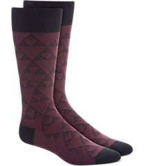 alfani men's linear triangle socks, created for macy's
