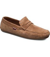 classic suede penny loafer loafers låga skor brun tommy hilfiger