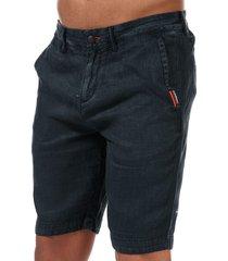 mens international linen chino shorts