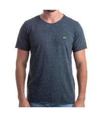 camiseta clothis corrosion blue estonada respingos masculina