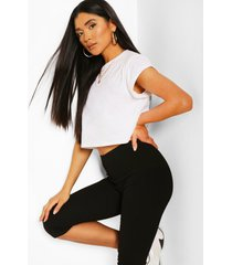 cropped contour legging, black