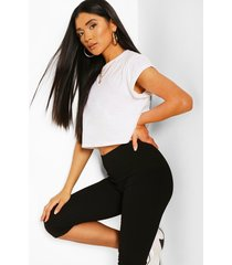 cropped support legging, black