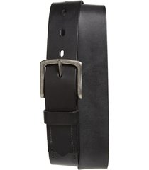 men's big & tall 1901 montlake stitch detail leather belt, size 46 - black caviar