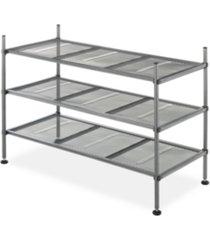 whitmor 3-tier gunmetal mesh shelves