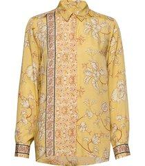 marietta sunny shirt blouse lange mouwen geel mos mosh