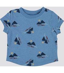 t-shirt i bomull - melerad blå