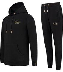 elegante heren joggingpak gold e3 -