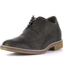 zapato hombre oxford negro 7cms max denegri