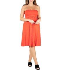 24seven comfort apparel women's plus size mini dress