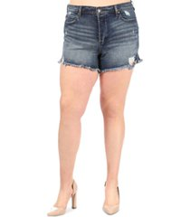 celebrity pink trendy plus size ultra-high-rise jean shorts