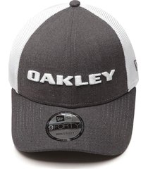 boné oakley trucker heather new era cinza/branco