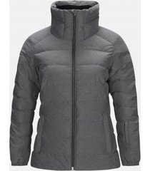 peak performance ski jas women vel grey melange-s