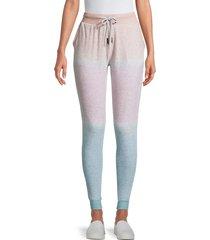 electric yoga women's ombré jogger pants - blue pink multi - size m
