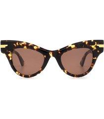 bottega veneta bottega veneta bv1004s havana sunglasses