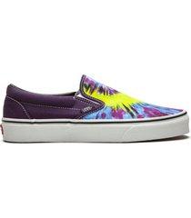 """vans classic slip-on """"tie-dye"""" sneakers - purple"""