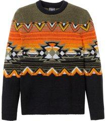 maglione con scollo rotondo (verde) - rainbow