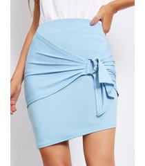 minifalda de cintura alta con diseño de amarre yoins