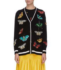 'bradford' butterfly embroidered grandpa cardigan