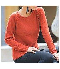 alpaca blend sweater, 'andean orange' (peru)
