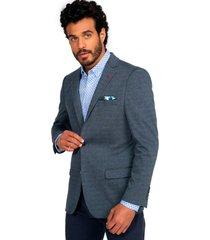 blazer casual azul guy laroche