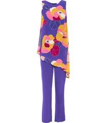 tuta elegante a fiori (viola) - bodyflirt boutique