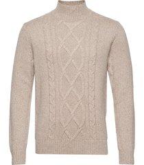 wool-blend mock-neck sweater knitwear turtlenecks beige banana republic