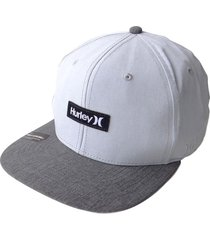 gorra hurley phantom one & only 37-gris claro