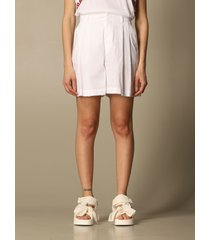 red valentino short red valentino cotton poplin shorts