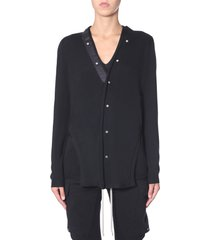 rick owens cardigan with buttons