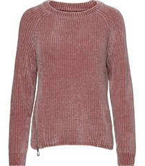 chenille knitted crew stickad tröja rosa sebago