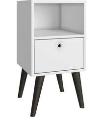 mesa de cabeceira palito branca brv móveis