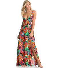 vestido multicolor maaji swimwear flowering crystal