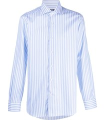 barba vertical stripes shirt - blue