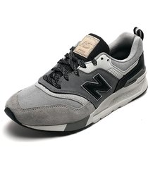 tenis lifestyle gris-negro-blanco new balance classics traditionnels