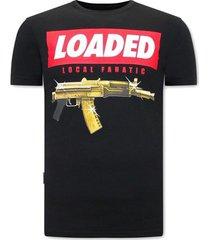 t-shirt korte mouw local fanatic stoere loaded gun