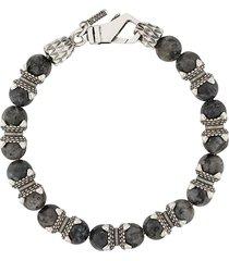 emanuele bicocchi beaded bracelet - grey