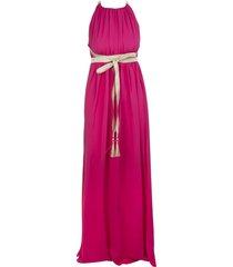 max mara fuchsia orde long dress