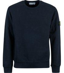 stone island sleeve logo sweatshirt